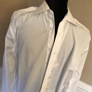 Calvin Klein White Dress Shirt - large